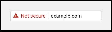 Varnostno opozorilo v brskalniku Google Chrome
