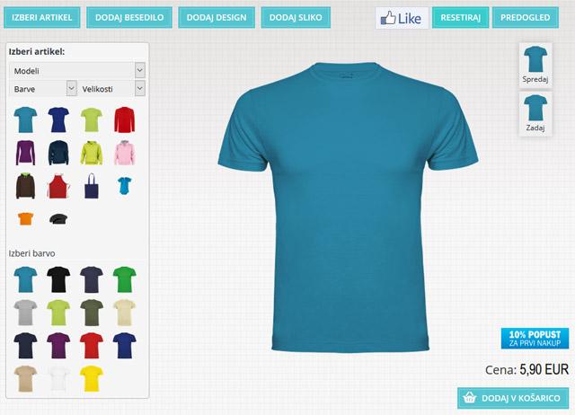 Oblikuj majico